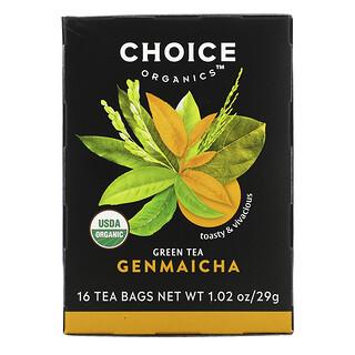 Choice Organic Teas, Green Tea,  Genmaicha, 16 Tea Bags, 1.02 oz (29 g)