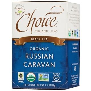 Choice Organic Teas, 블랙 티, 유기농, 러시안 캐러번, 티백 16 개입, 1.1 온즈 (32 g)