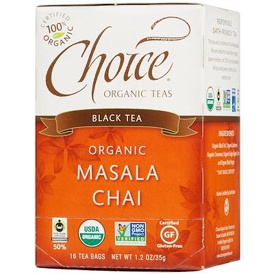 Choice Organic Teas 紅茶,有機印度奶茶,16茶包,1.2盎司(35克)