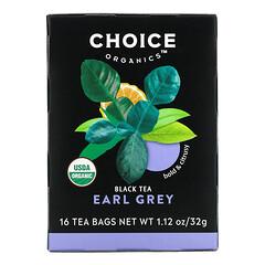 Choice Organic Teas, 紅茶,格雷伯爵茶,16 茶包,1.12 盎司(32 克)
