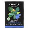 Choice Organic Teas, Decaf Black Tea, Decaffeinated Earl Grey, 16 Tea Bags, 1.12 oz (32 g)