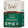 Choice Organic Teas, Black Tea, Organic, Irish Breakfast, 16 Tea Bags, 1.1 oz (32 g)