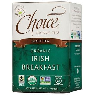 Choice Organic Teas, Black Tea, Organic, Irish Breakfast, 16 Tea Bags, 1.1 oz (32 g)