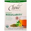 Choice Organic Teas, Wellness Teas, Organic, Regularity, 16 Tea Bags, 1.1 oz (32 g)