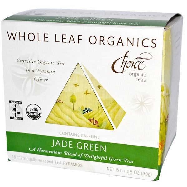 Choice Organic Teas, Jade Green, 15 Tea Pyramids, 1.05 oz (30 g) (Discontinued Item)