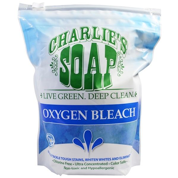 Charlie's Soap, Inc., Oxygen Bleach, 2.64 lbs (1.2 kg) (Discontinued Item)