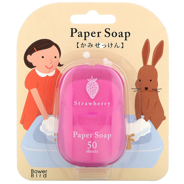 Paper Soap, Strawberry, 50 Sheets