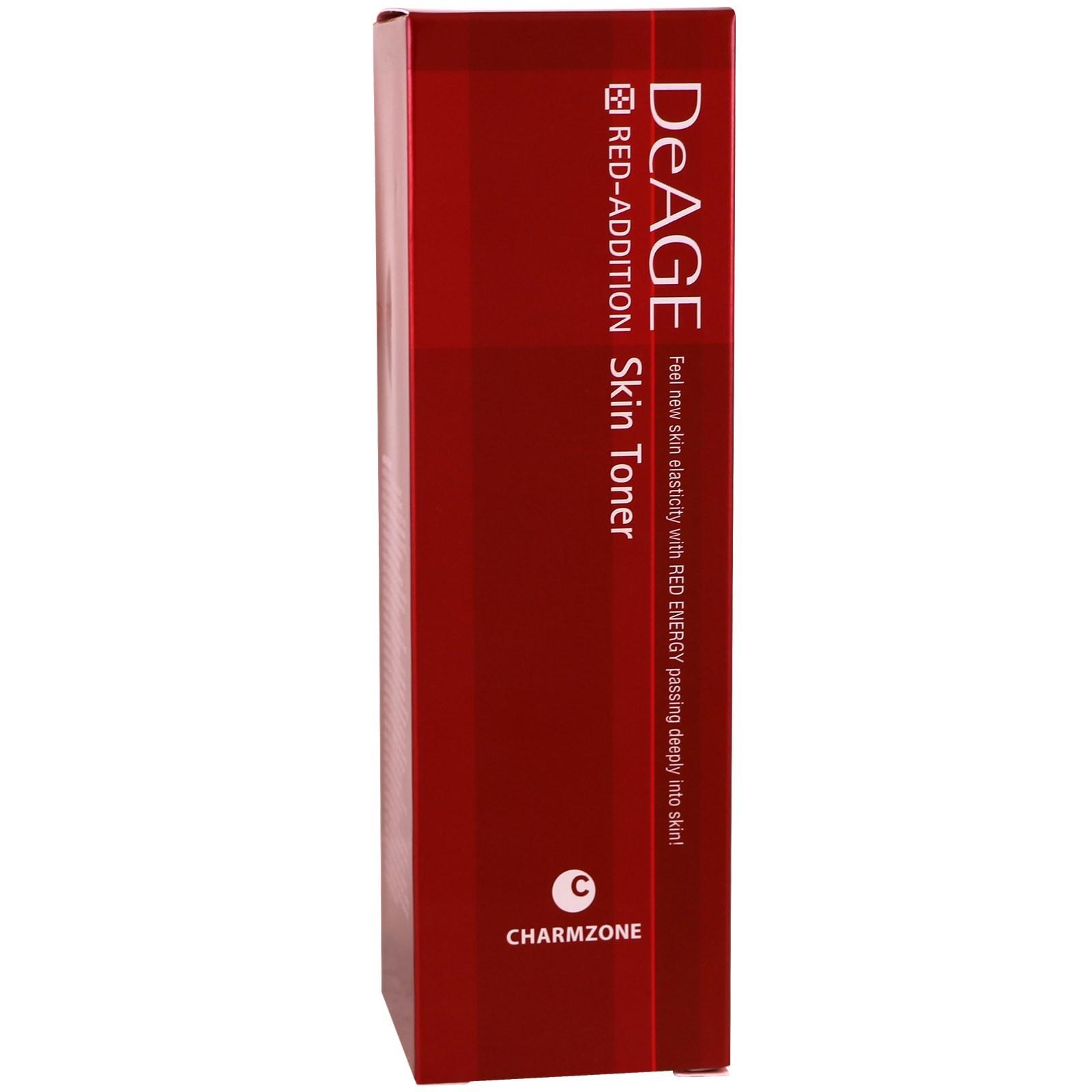 Charmzone, DeAge, красная добавка, тоник для кожи, 4,39 жидких унции (130 мл)