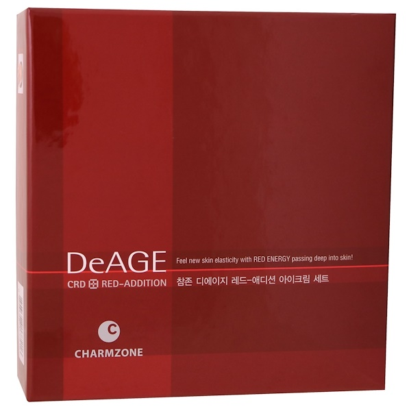 Charmzone, DeAge, Red-Addition, Eye Cream Set, 30 ml + 15 Patches (Discontinued Item)