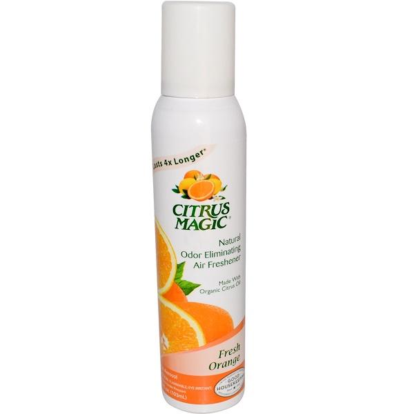 Citrus Magic, Natural Odor Eliminating Air Freshener, Fresh Orange, 3.5 fl oz (103 ml) (Discontinued Item)