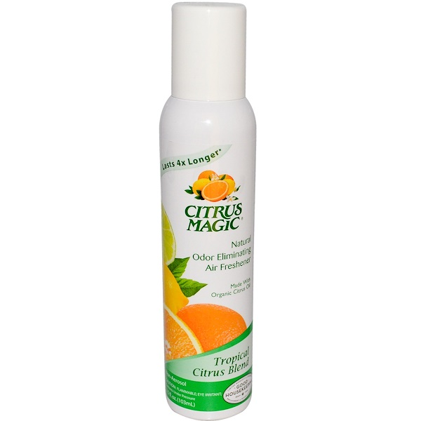 Citrus Magic, Natural Odor Eliminating Air Freshener, Tropical Citrus Blend, 3.5 fl oz (103 ml) (Discontinued Item)