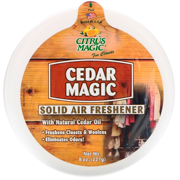 Citrus Magic, Cedar Magic، معطر جو صلب، 8 أونصة (227 غرام) (Discontinued Item)