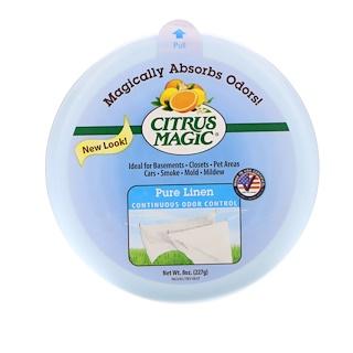 Citrus Magic, Твердый освежитель воздуха, Чистый лен,  8 унций (227 г)
