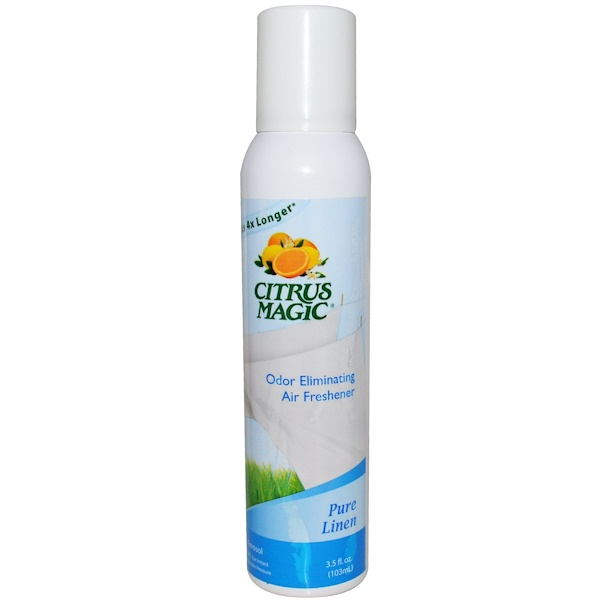 Citrus Magic, Odor Eliminating Air Freshener, Pure Linen, 3.5 fl oz (103 ml) (Discontinued Item)