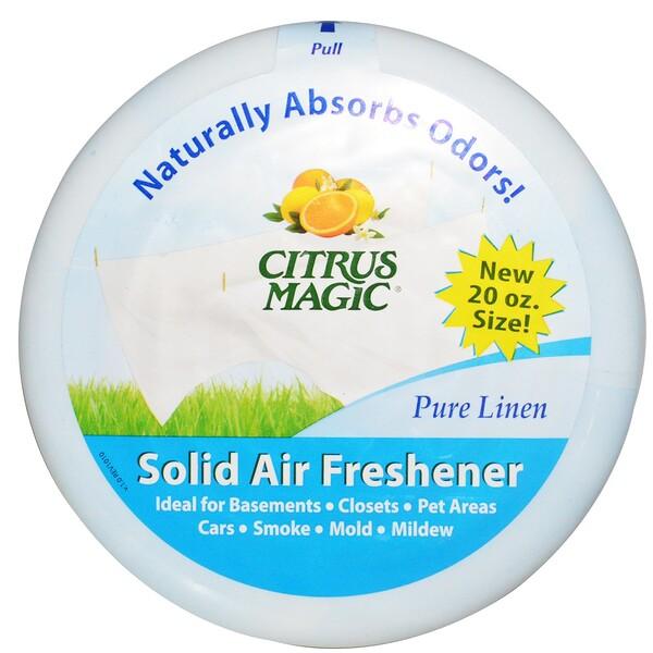Citrus Magic, 고체 공기 방향제, 퓨어 린넨 ,20 oz (566 g)