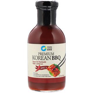 Chung Jung One, Premium Korean BBQ Sauce & Marinade, Spicy, 14.5 oz (411 g)