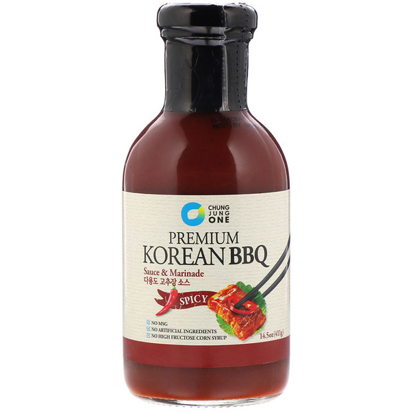 Premium Korean BBQ Sauce & Marinade, Spicy, 14.5 oz (411 g)