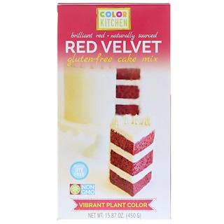 ColorKitchen, Безглютеновая смесь для выпечки, Красный бархат, 15,87 унц. (450 г)