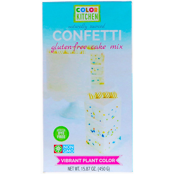 ColorKitchen, Безглютеновая смесь для торта, Конфетти, 15,87 унц. (450 г)