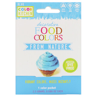 ColorKitchen, Decorative, Food Colors From Nature, Blue, 1 Color Packet, 0.088 oz (2.5 g)