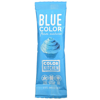 ColorKitchen, Decorative, Food Colors From Nature, Blue, 1 Packet, 0.088 oz (2.5 g)