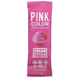 ColorKitchen, Decorative, Food Colors From Nature, Pink, 1 Packet, 0.088 oz (2.5 g)