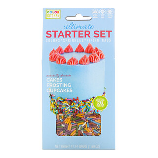 ColorKitchen, Ultimate Starter Set, Colors, Sprinkles and Piping Bags, 1.69 oz (47.94 g)