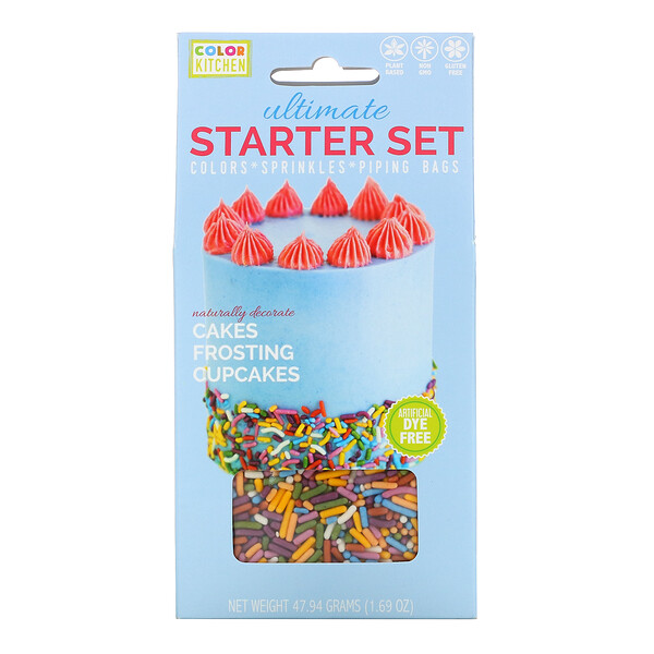 ColorKitchen, Ultimate Starter Set, Colors, Sprinkles and Piping Bags, 1.69 oz (47.94 g) (Discontinued Item)