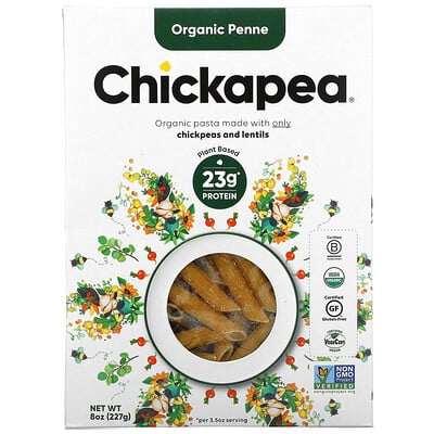 Chickapea Organic Penne, 8 oz ( 227 g)