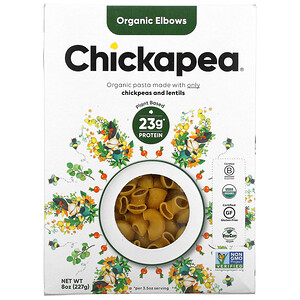 Chickapea, Organic Elbows,  8 oz ( 227 g)