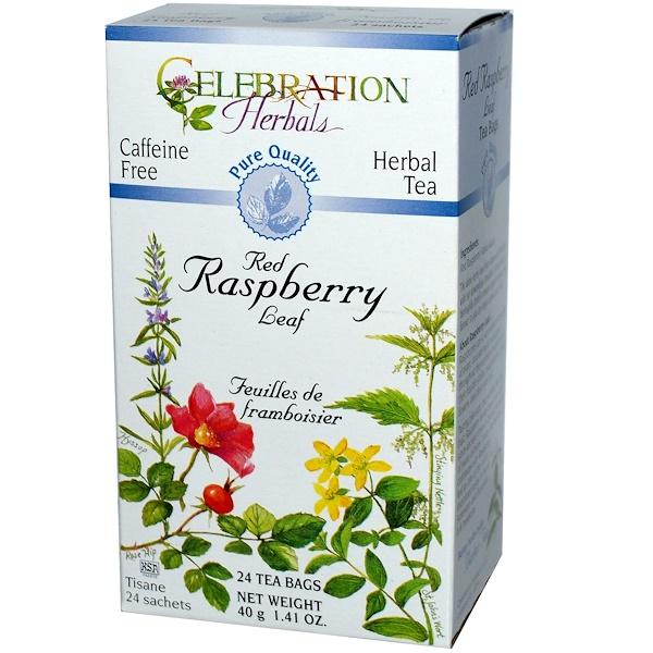 Celebration Herbals, Herbal Tea, Red Raspberry Leaf, Caffeine Free, 24 Tea Bags, 1.41 oz (40 g) (Discontinued Item)