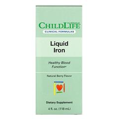 Childlife Clinicals, 液體鐵,天然漿果味,4 液量盎司(118 毫升)