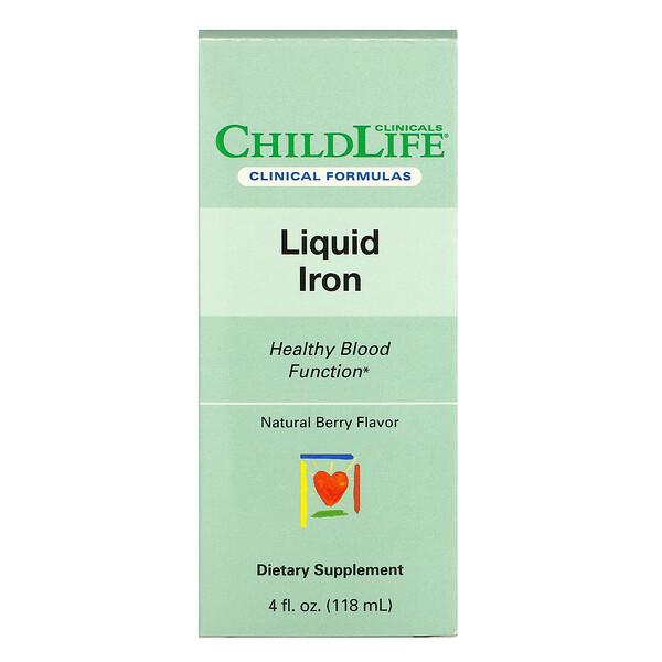 Liquid Iron, Natural Berry, 4 fl oz (118 ml)