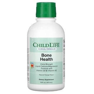 Childlife Clinicals, здоровье костей, жидкий кальциево-магниевый состав с витаминамиD3 и K2 и натуральным апельсином, 473мл (16жидк. унций)