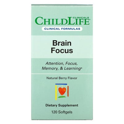 Купить Childlife Clinicals Brain Focus, Natural Berry, 120 Softgels