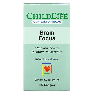 Childlife Clinicals, Brain Focus, Natural Berry, 120 Softgels