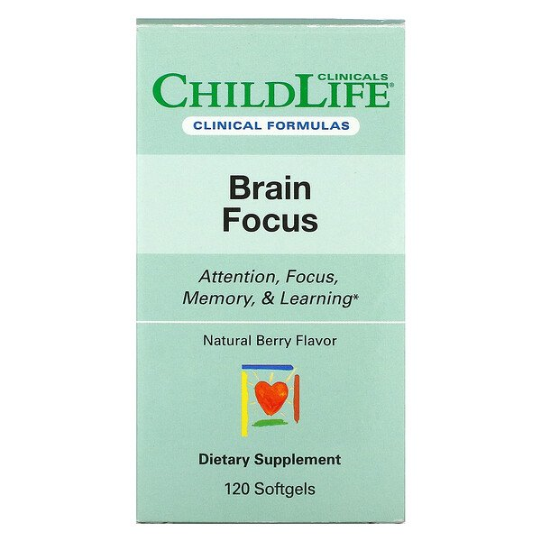 Brain Focus, Natural Berry, 120 Softgels