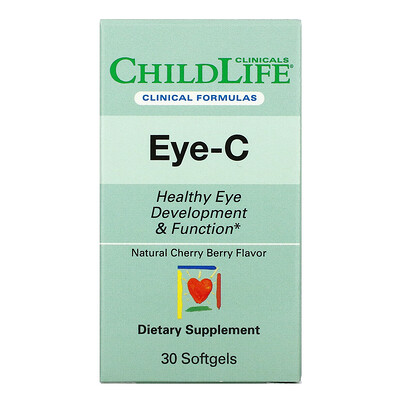 Купить Childlife Clinicals Eye-C, Cherry Berry, 30 Softgels