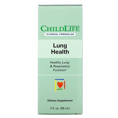 Купить Childlife Clinicals Lung Health, Healthy Lung & Respiratory Function, 2 fl oz (59 ml)
