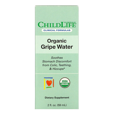 Купить Childlife Clinicals Organic Gripe Water, 2 fl oz (59 ml)