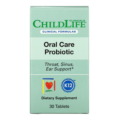 Купить Childlife Clinicals Oral Care Probiotic, 30 Tablets