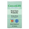 Childlife Clinicals, пробиотик для ухода за полостью рта, натуральная клубника, 30 таблеток