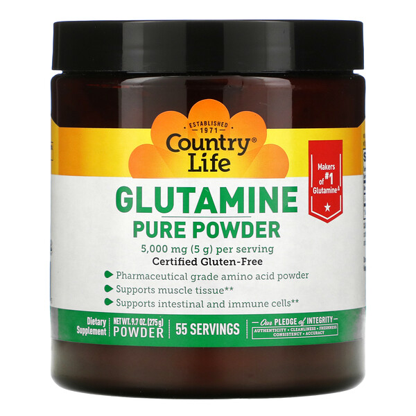 Glutamine Pure Powder, 5,000 mg, 9.7 oz (275 g)