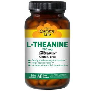 Кантри Лайф, L-Theanine, 200 mg, 60 Vegan Capsules отзывы