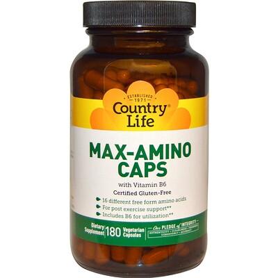 Купить Max-Amino в капсулах, с витамином B6, 180 вегетарианских капсул