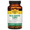 Country Life, Max-Amino Caps with Vitamin B-6, 180 Vegetarian Capsules