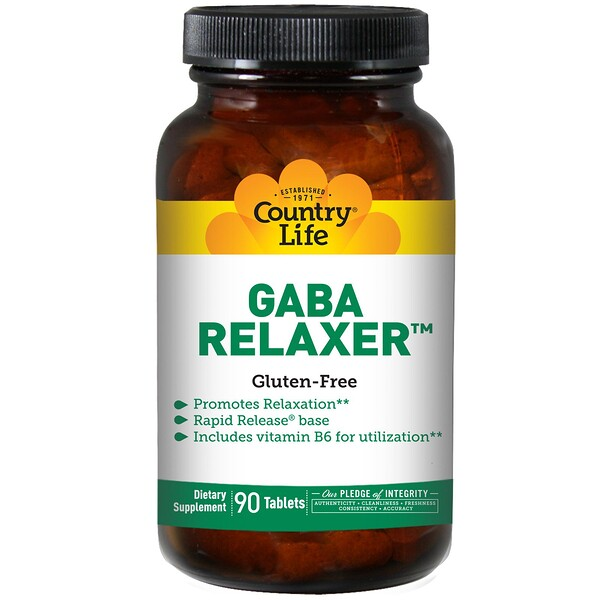 Country Life, GABA Relaxer, 90 Tablets