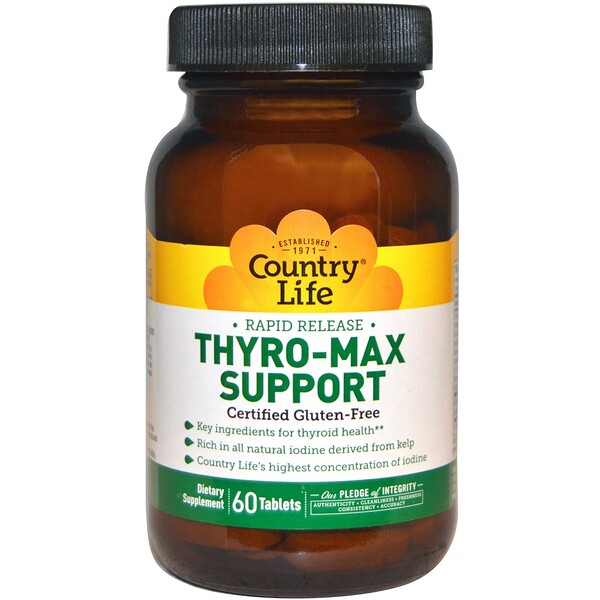 Country Life, Thyro-Max Support, 60 таблеток