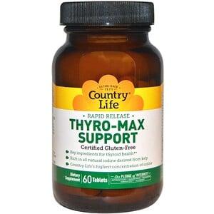 Кантри Лайф, Rapid Release Thyro-Max Support, 60 Tablets отзывы