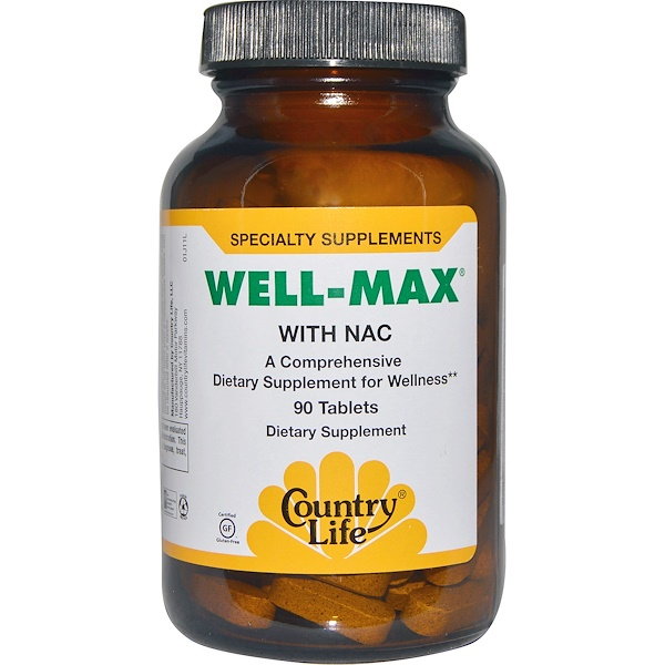 Country Life, Well-Max, with NAC, 90 Tablets (Discontinued Item)